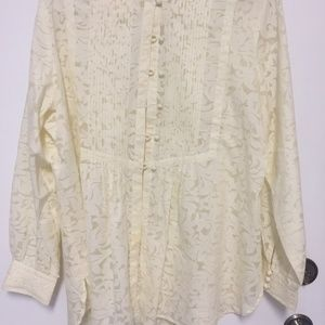 LOVELY COLDWATER CREEK TOP/TUNIC. IVORY. 1X
